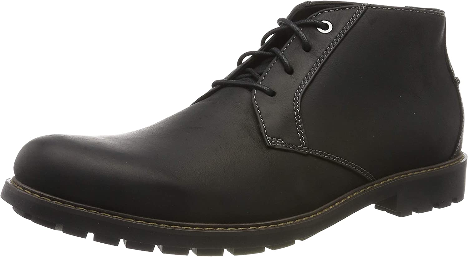 Boots CLARKS Curington Over 261453657 Dark Brown Leather
