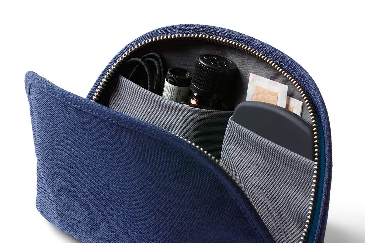 - Blue Neon piel y tela tejida kit de uso diario bol/ígrafos, cables, cosm/éticos, art/ículos personales Bellroy Classic Pouch