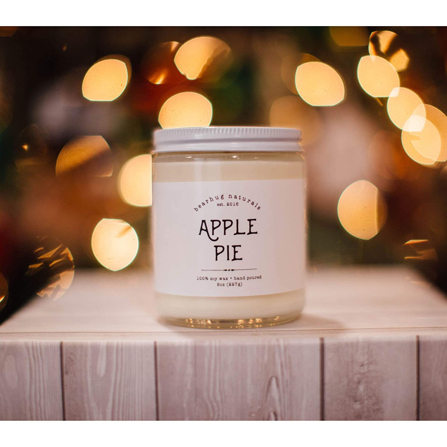 Apple Pie Hand-poured Soy Candle Fall Winter Holiday Scent Vegan Eco-friendly