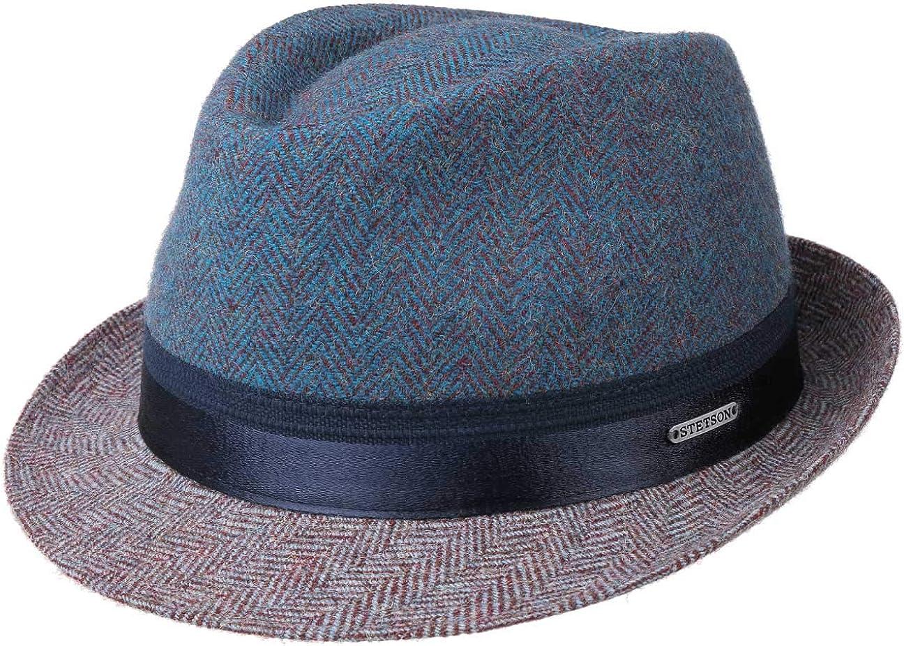 Stetson Trilby Espiga Ross Mujer/Hombre - Made in Italy Sombrero de Hombre Sombreros Moda con Forro otoño/Invierno