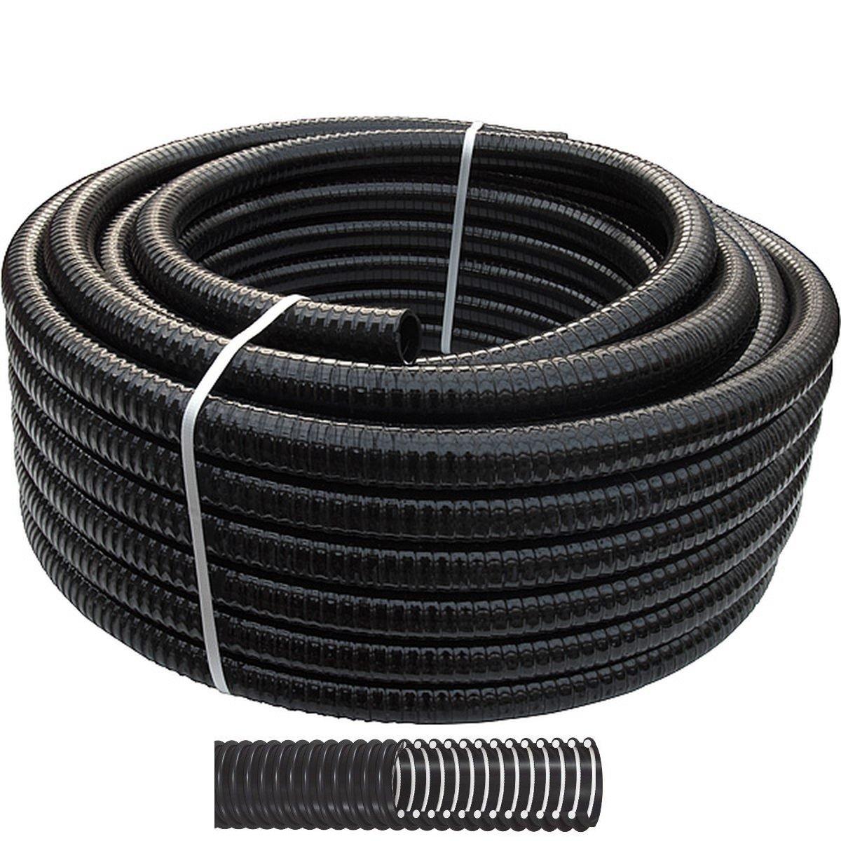 REHAU Teichschlauch schwarz 3/4' (19mm) 15m Spiralschlauch flexibel für z.B. Bachläufe
