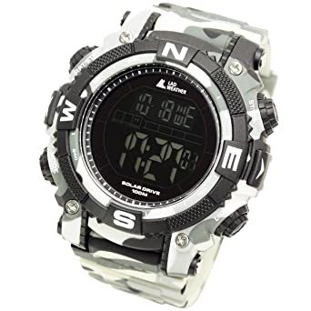 LAD WEATHER Powerful Solar Watch - Military/Camouflage Pattern/Combat Style (cmwh-