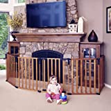 """Toddleroo by North States 3 in 1 Wood Superyard: 151"""" Long Extra Wide Baby gate, Barrier or Play Yard. Hardware or…"""