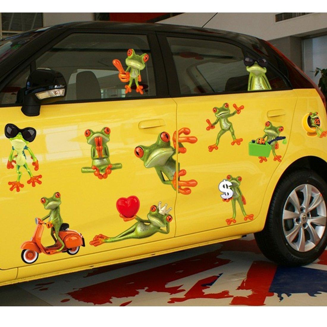 Amazon.com: 3D Frog Wall Decal Home Sticker PVC Murals Vinyl Paper ...