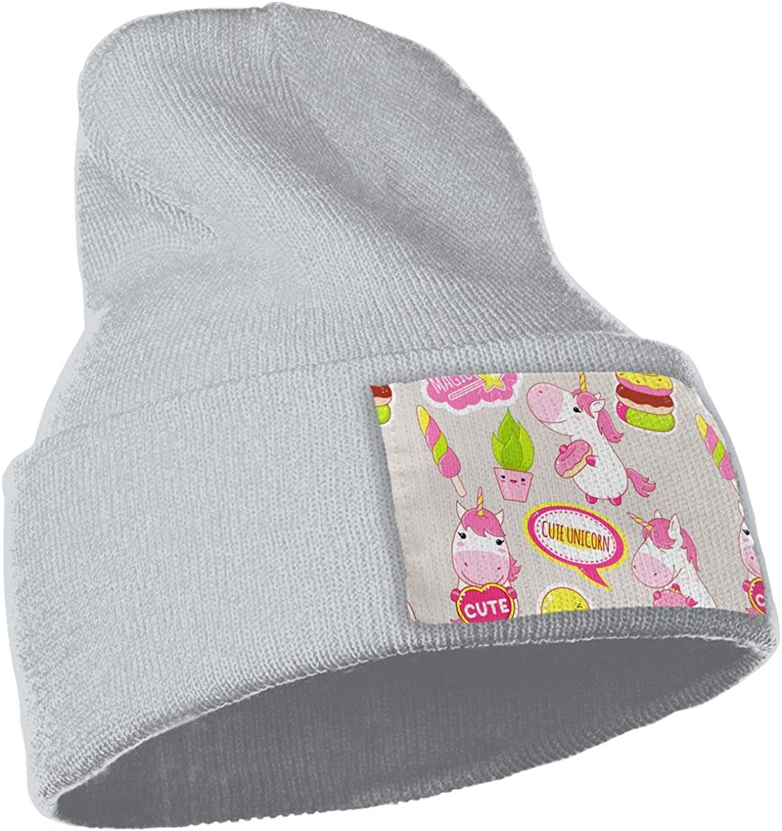 Unicorn with Donut and Cake Unisex Fashion Knitted Hat Luxury Hip-Hop Cap
