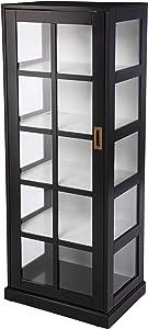 SEI Furniture Burland Curio Cabinet, Black