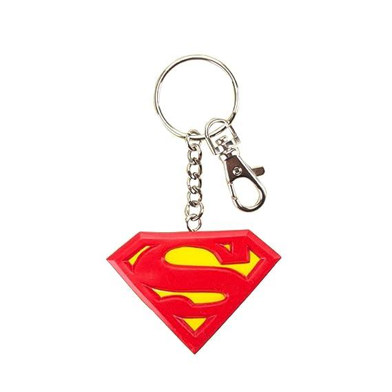 Superman Official - Llavero de goma con logotipo (Talla ...
