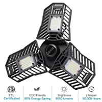 Deals on Tandanic 60W Deformable LED Garage Lights, 6000 Lumens