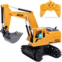 Remote Control Excavator for Boys Remote Control Truck RC Tractor Construction Vehicles Toys with Lights & Simulation…