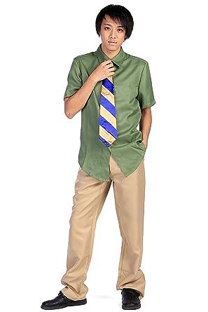 28b6b38736ed SDWKIT Zootopia Cosplay Costume DMV Officer Three-Toed Sloth Flash Outfit  Set V1  Amazon.co.uk  Clothing