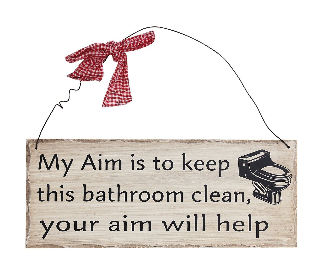 Home Acent My Aim Is To Keep This Bathroom Clean Your Aim Will Help Wooden Sign Decor 10 X4