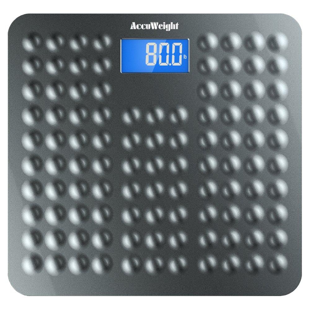 Home 187 homedics lcd digital bath scale - Accuweight Anti Skid Digital Bathroom Body Weight Scale With 3 6 Backlight Display And Step