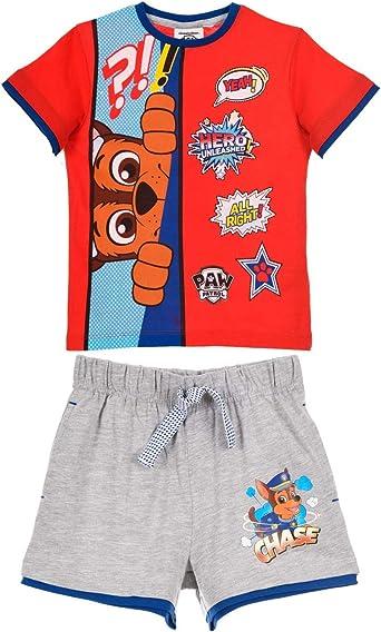 Pat Patrouille Enfant garçon tee shirt et short pyjama 100/% coton 3 à 6 ans