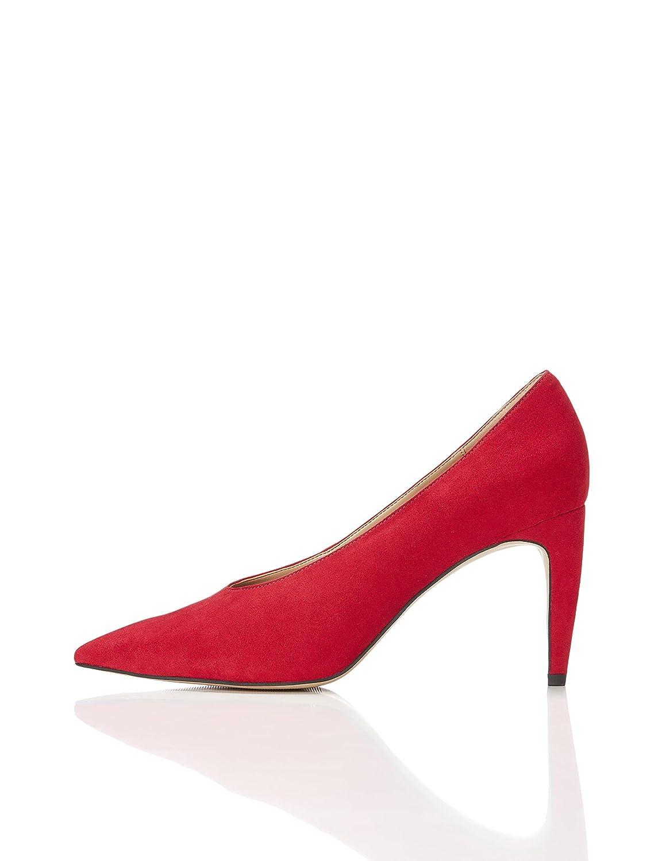 Marca Amazon - find. Zapatos de Tacón con Empeine Alto para Mujer