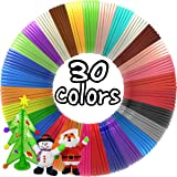 dikale 3D Pen Filament Refills 30 Colors, Bonus 250 Stencils eBooks 3D Pen Filament 1.75mm PLA for Tecboss Levin Nulaxy 7TECH BeTIM etc