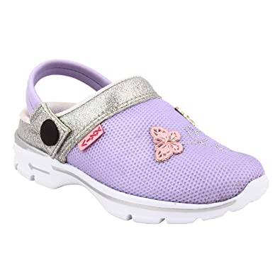 234da29c1a7 KazarMax Purple Butterfly Slipon's/Sandals/Hopits/Clogs and Mules for Kids (Size
