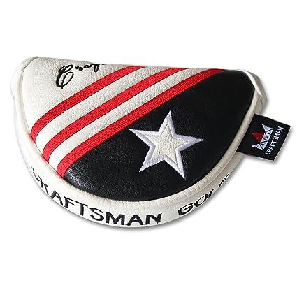 Artesano Golf negro blanco rojo rayas Estados Unidos Star ...