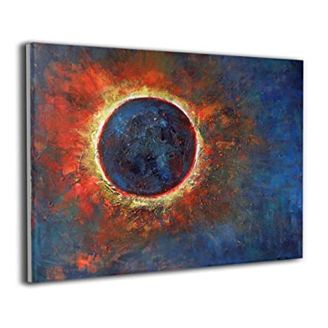 Amazon Com Yz Mamu Sun Moon Wall Art Paintings Landscape Canvas