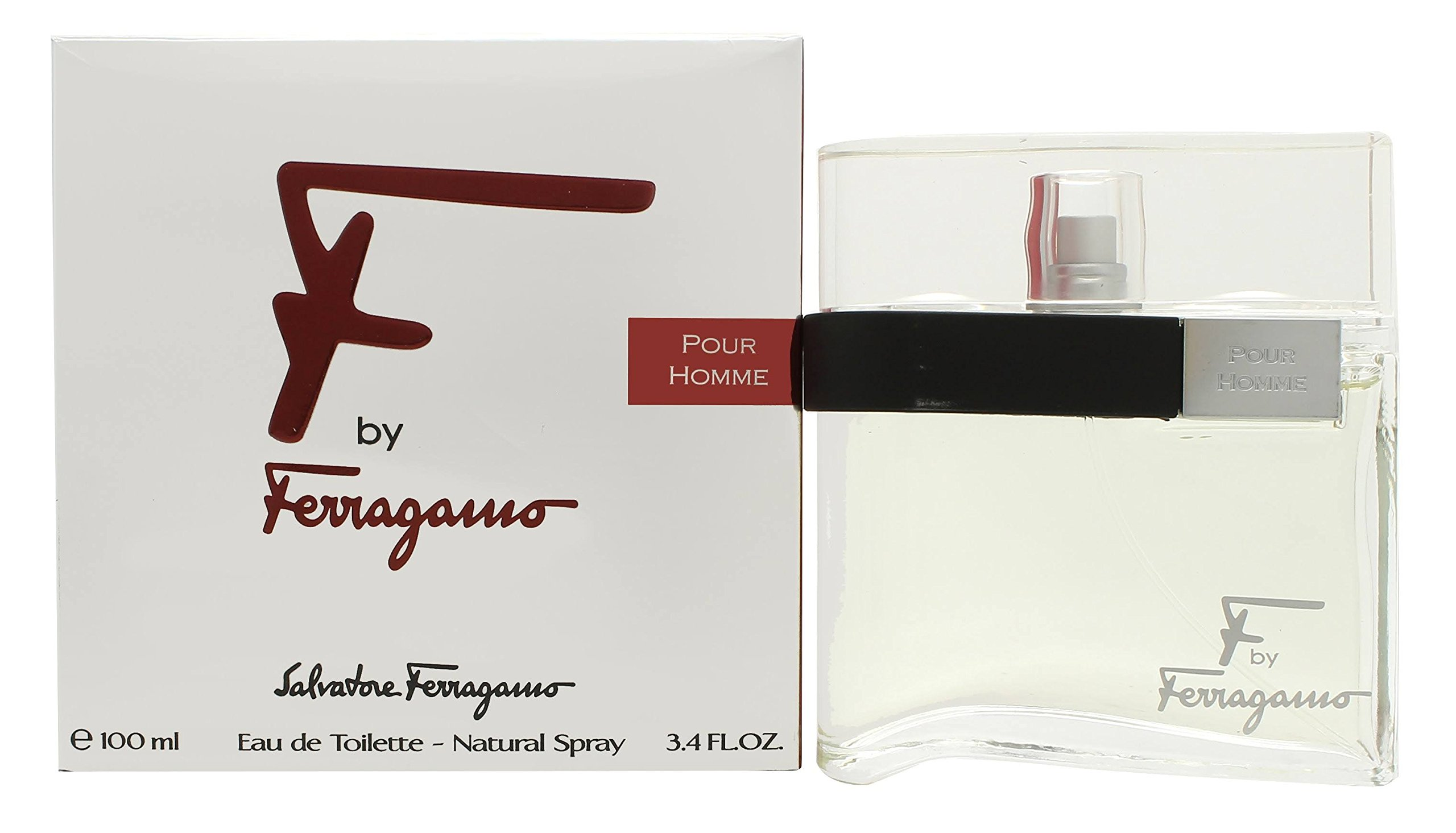 344e85f093b0c5 Amazon.com   F Pour Homme by Salvatore Ferragamo 100ml 3.4oz EDT Spray    Eau De Toilettes   Beauty