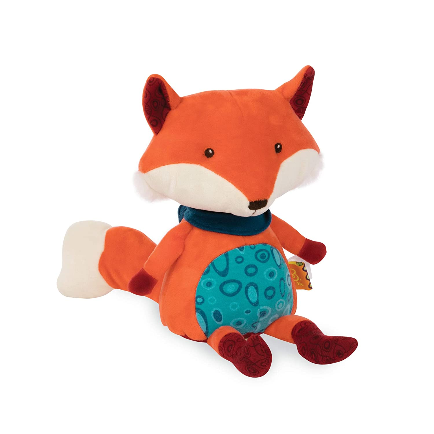 BTOYS Renard BAVARD B Toys Doudou Musical, BX1513, Orange Battat BX1513Z