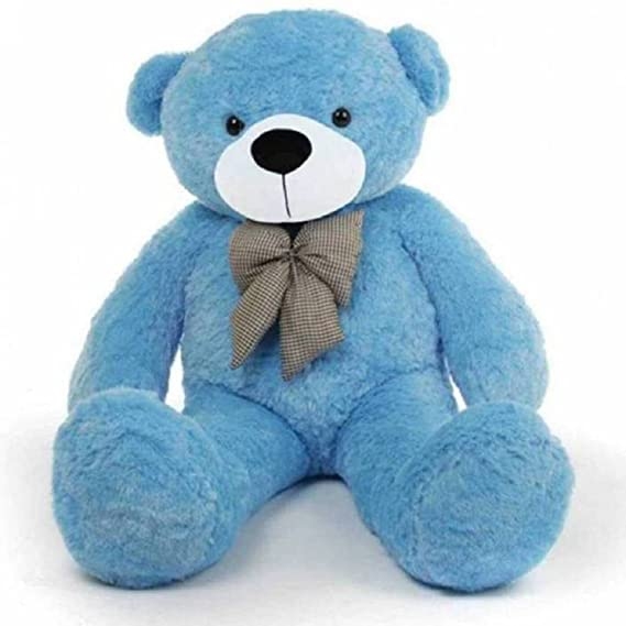 Growth Creation Soft Toys Teddy Bear Jumbo 5 Feet   152 cm Blue Soft Toys