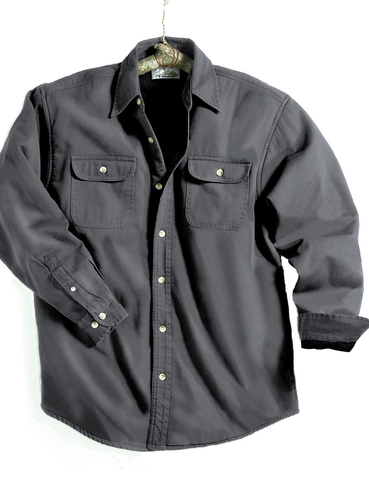 Tri-Mountain Men's 8 oz 100% Cotton Denim Stonewashed Jacket,Charcoal,2XL