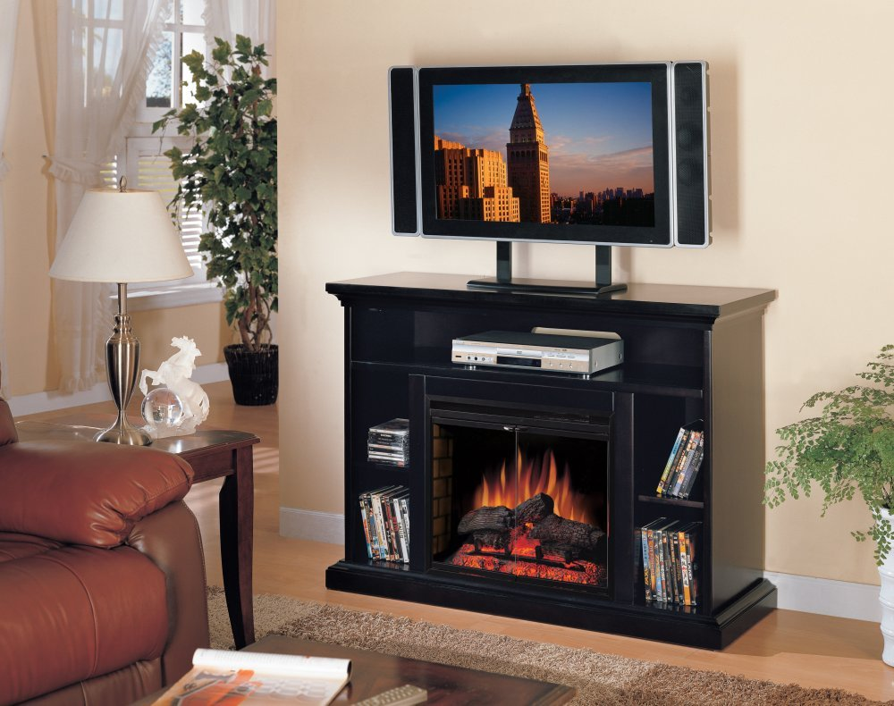 Amazon.com: Classic Flame Beverly Electric Fireplace and TV Stand ...