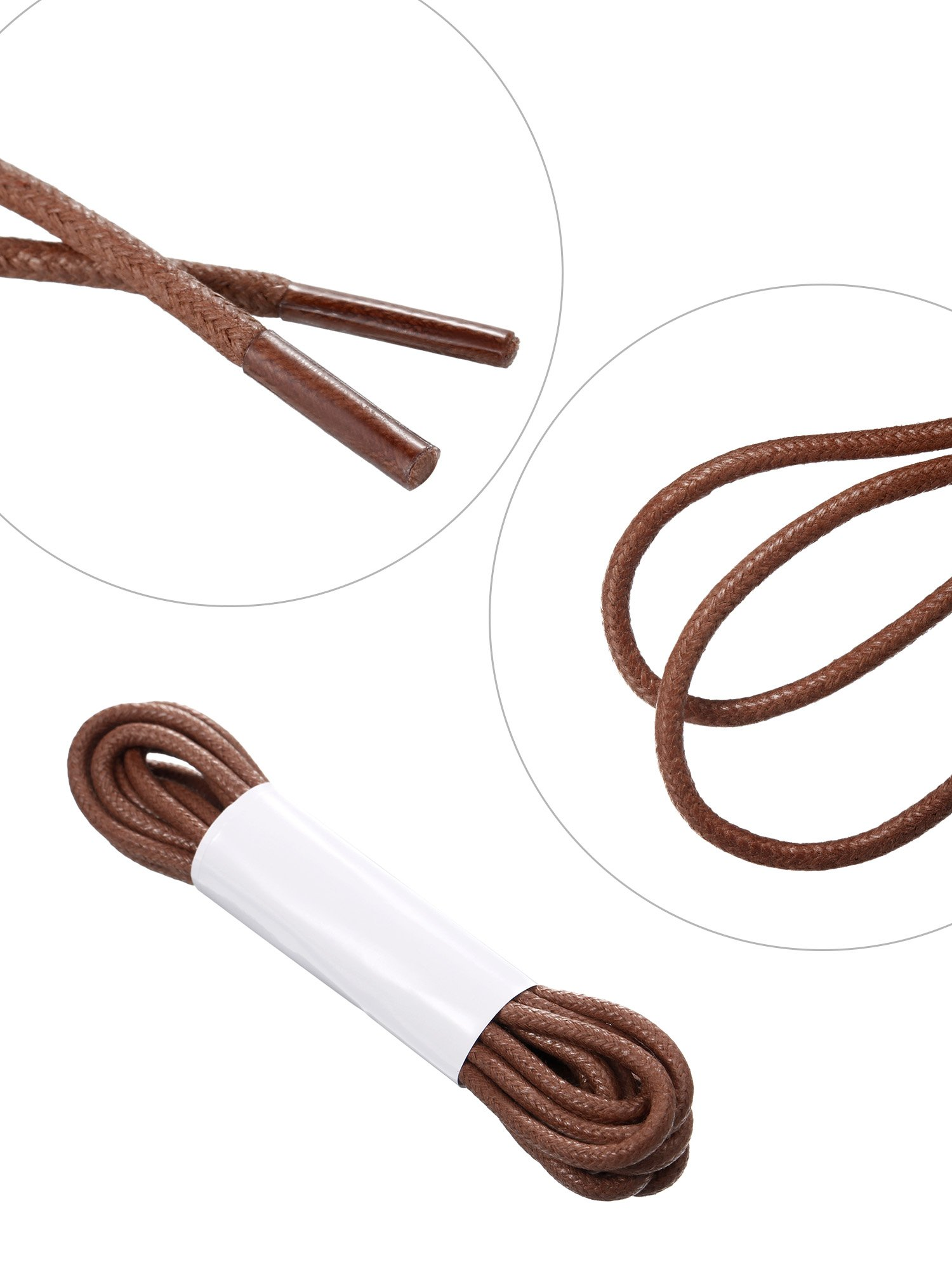 Jovitec Waxed Oxford Shoelaces Cotton Round Waxed Shoe Laces for Dress Shoes, 9 Colors by Jovitec (Image #3)