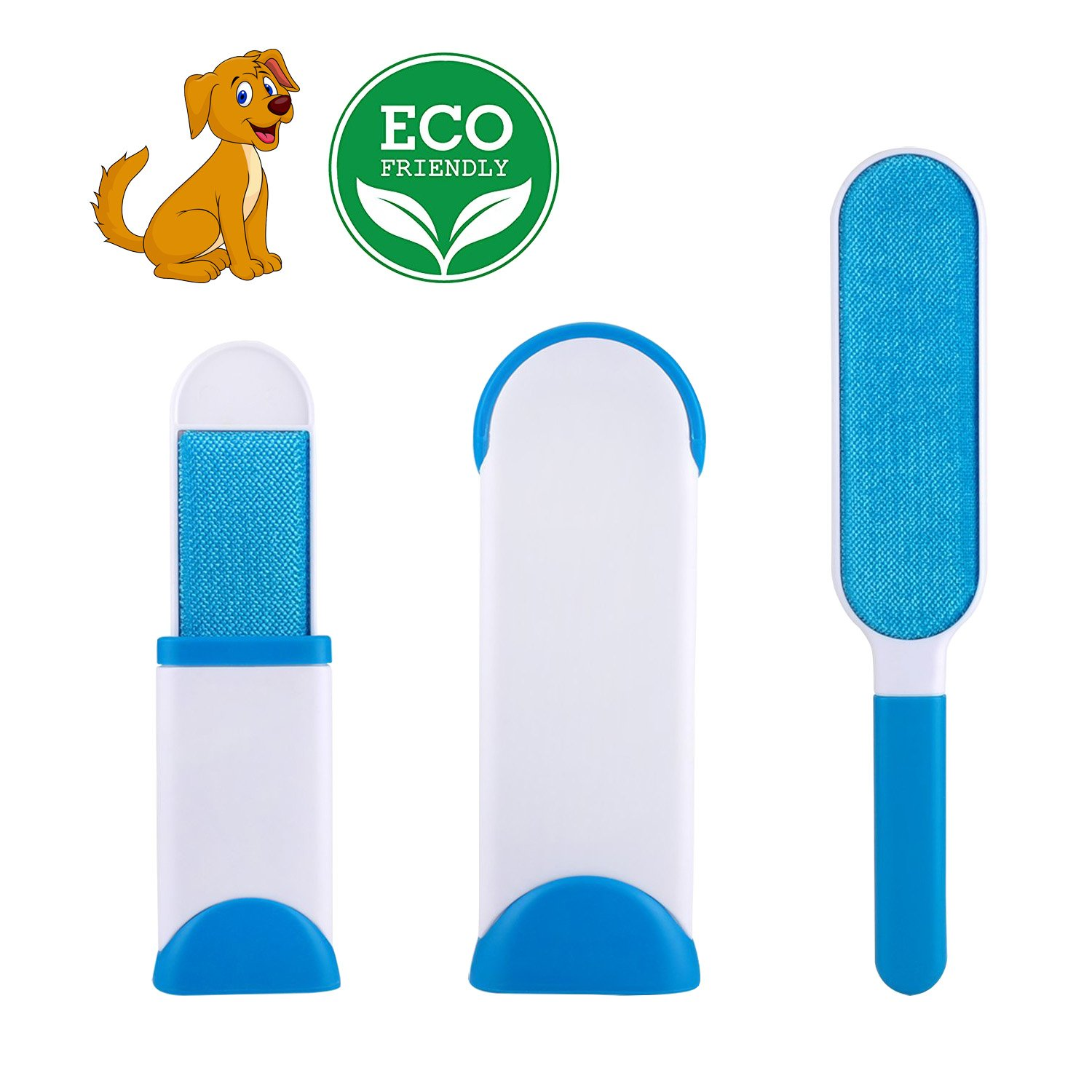 Stolife Pet Fur Remover, Pet Hair Remover Brush, Pet Lint with Self-Cleaning Base, Cat Dog Hair Remover