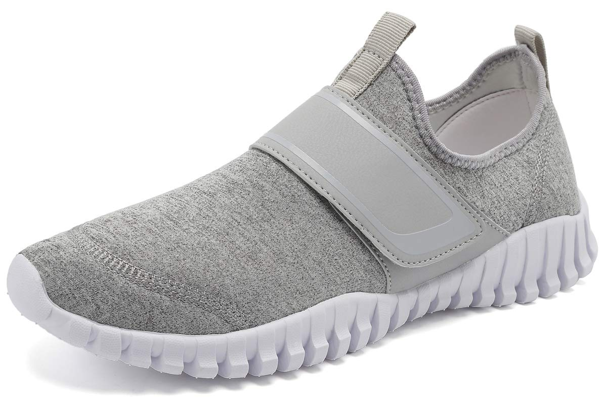 KEESKY Women's Water Swim Shoes - Boat Shoes Wide Width Grey Size 6.5