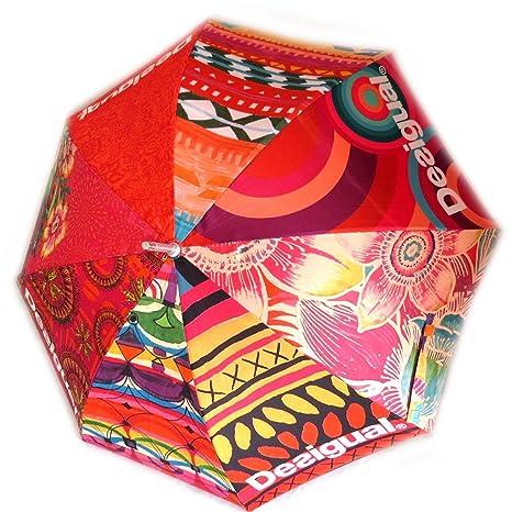 Paraguas de caña Desigualnaranja de color ...