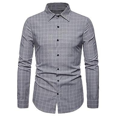 ABASSKY Camisa de Manga Larga con Cuello Giratorio para Negocios ...
