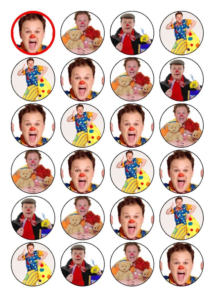 24 Mr Tumble Cupcake Toppers Amazoncouk Kitchen Home – Mr Tumble Birthday Card