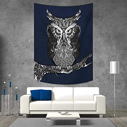 Smallbeefly Indie Home Decorations Living Room Bedroom Owl Vintage Style  Ornaments Wisdom Symbol Creature Night Wall