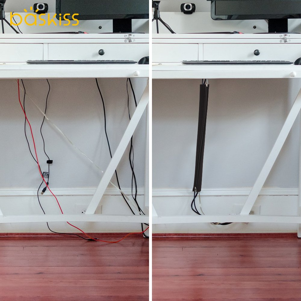 Set Two Cable Management Box Cord Organizer Large Storage Holder Wiring To Tv Desk Computer Usb Hub