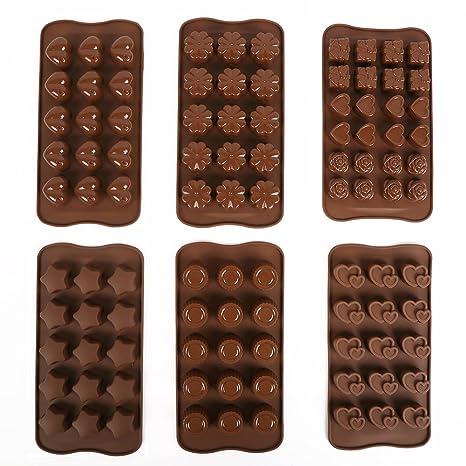 Triplespark 3D Molde Bandejas Seguridad Alimenticia de Silicona Moldes para Chocolate Decoración de Torta Candy Cookies