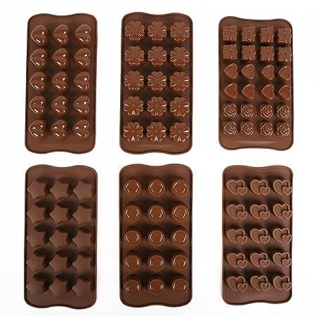 Minidiva molds-6 pcs moldes de cocción de silicona para decoración ...