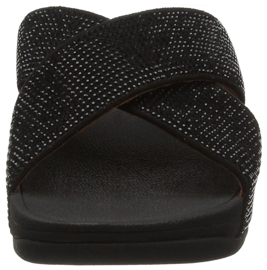FitFlop Damen Sandales, Ritzy Slide Sandales, Damen Schwarz Schwarz (schwarz 001) e20625