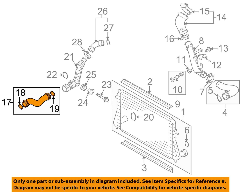 VW VOLKSWAGEN OEM 09-17 Tiguan 2.0L-L4 Intercooler-Pressure Pipe 5N0145832S