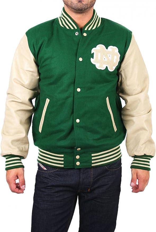 NCAA Herren Notre Dame College Jacke BASEBALL JKT green