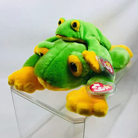 90bb4f2bc62 Amazon.com  Beanie Baby and Buddy Set - Smoochy the Frog  Toys   Games