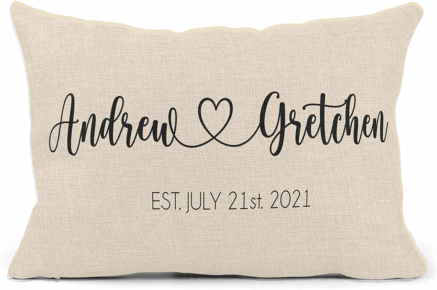 Wedding Gifts for Couples Unique 2021 for Couple - House Warming Presents for New Home - Cojines Decorativos para Sala - Personalized Pillows with Names - Housewarming Gift (Design 5)