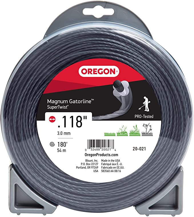 "Oregon 23-780 Gatorline 1 Lb 416/' Spool 0.080/"" Gauge Pro Round String Trimmer"