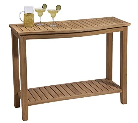 Amazoncom Teak Buffet Table Garden Outdoor - Teak outdoor buffet table