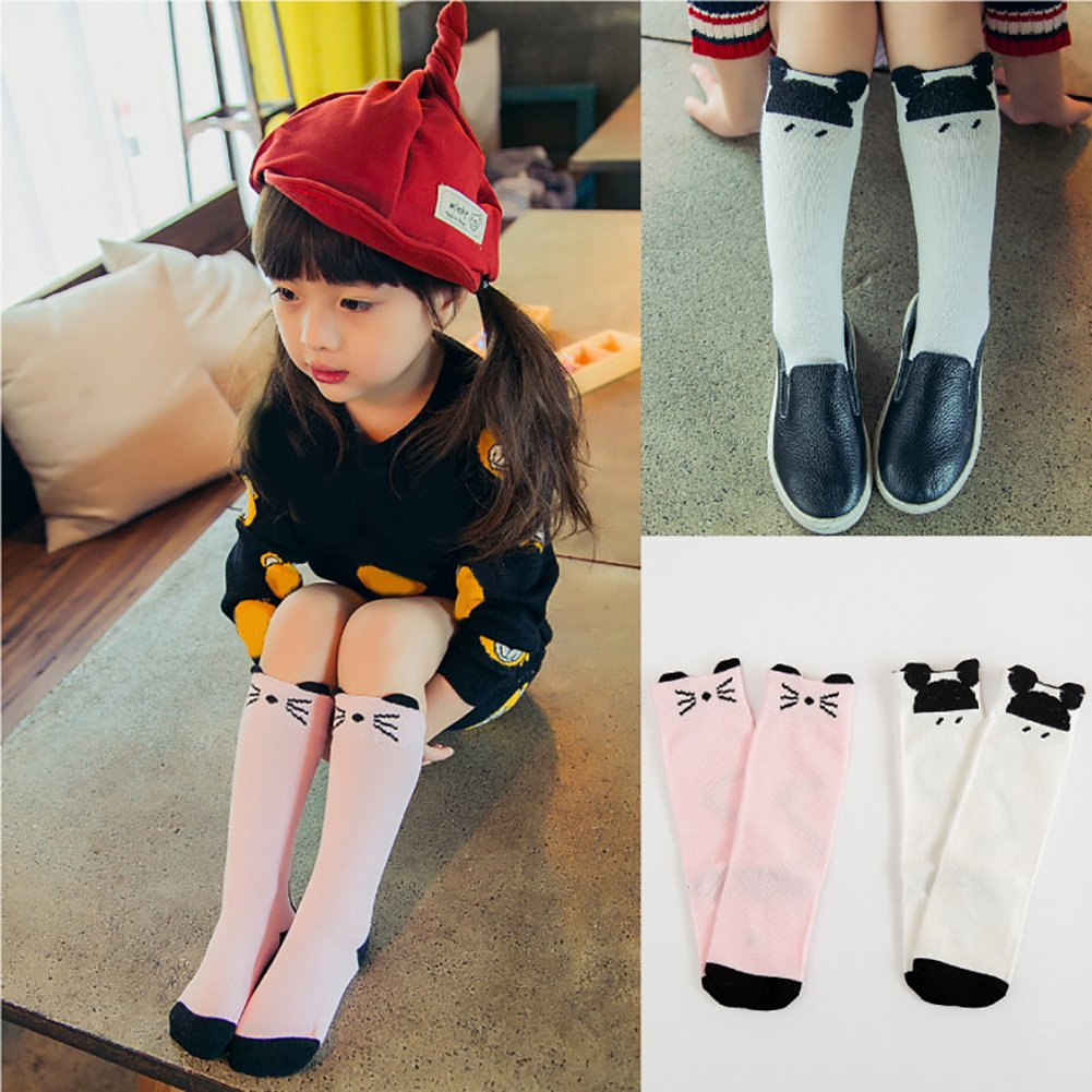 Heaven2017 Toddler Baby Boy Girl Soft Cotton Anti-Slip Cartoon Mouse Cute Knee High Socks