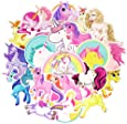 Cute Waterproof Unicorn Vinyl Stickers for Laptop Water Bottle for Girls (30 Pcs/Pack)
