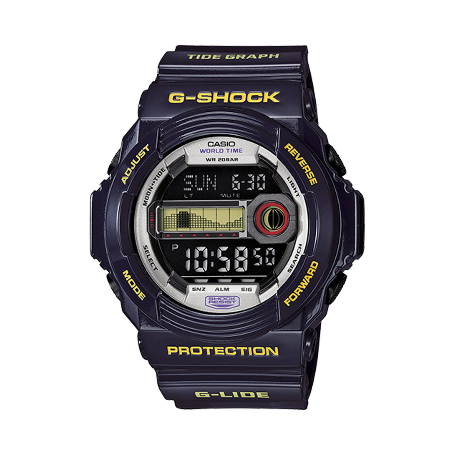 Amazon.com: G-Shock GLX-150 G-Lide Classic Series Mens Stylish Watch - Purple/One Size: Casio: Watches