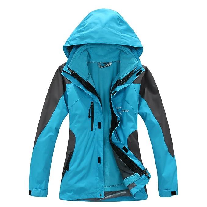 Syrinx - chaqueta de mujer, 3 en 1, transpirable, impermeable, con Forro Polar, para deportes al aire libre como camping o senderismo: Amazon.es: Ropa y ...