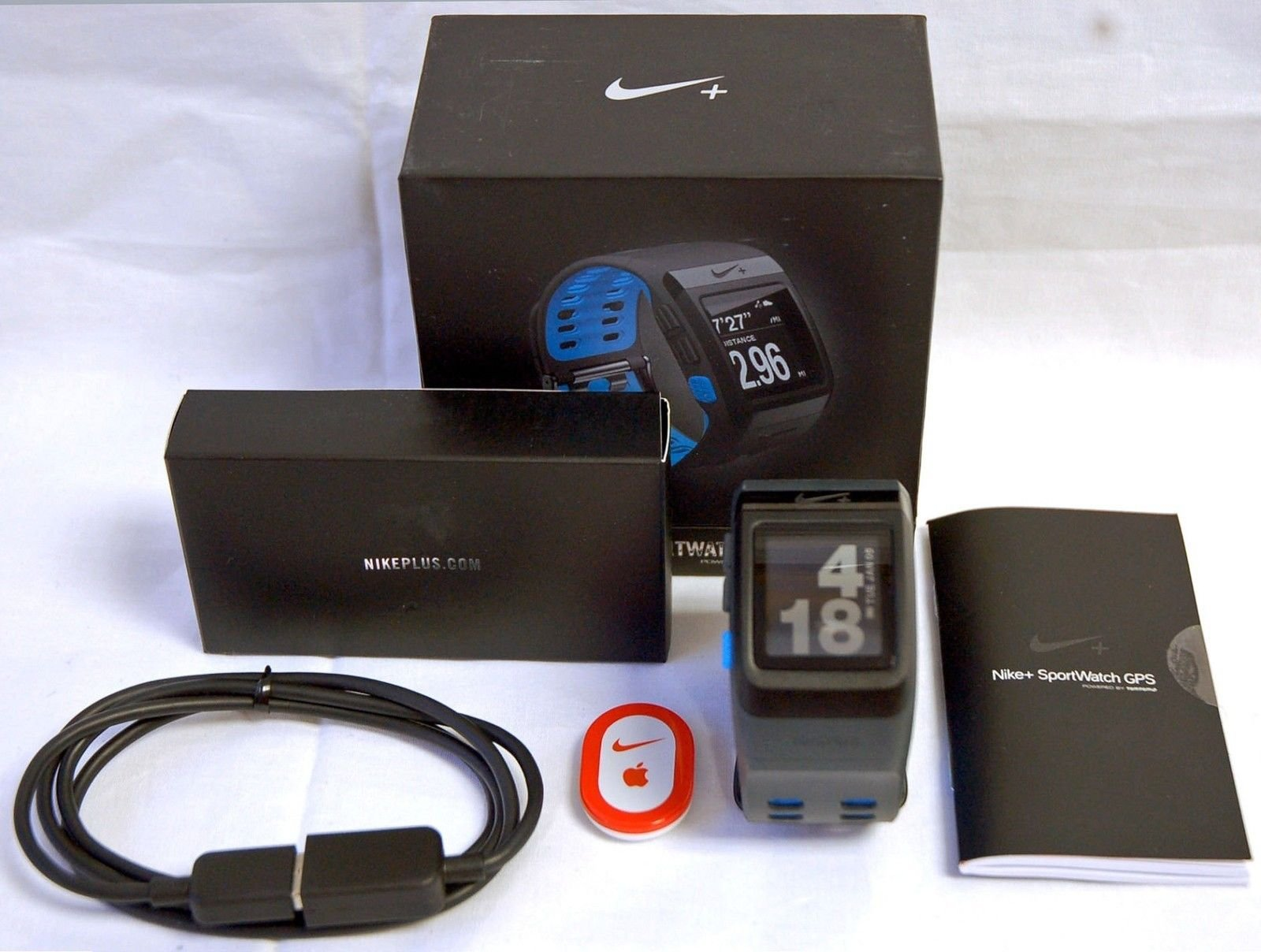 Nike+ Plus Foot Sensor Pod GPS Sport Watch Blue/Anthracite TomTom Running