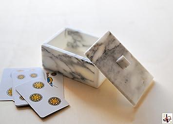 Arabesque 9 - Caja para Cartas de Juegos de mármol Blanco de ...